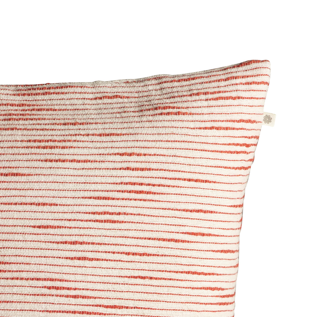 Woven Stripe Cushion, Red