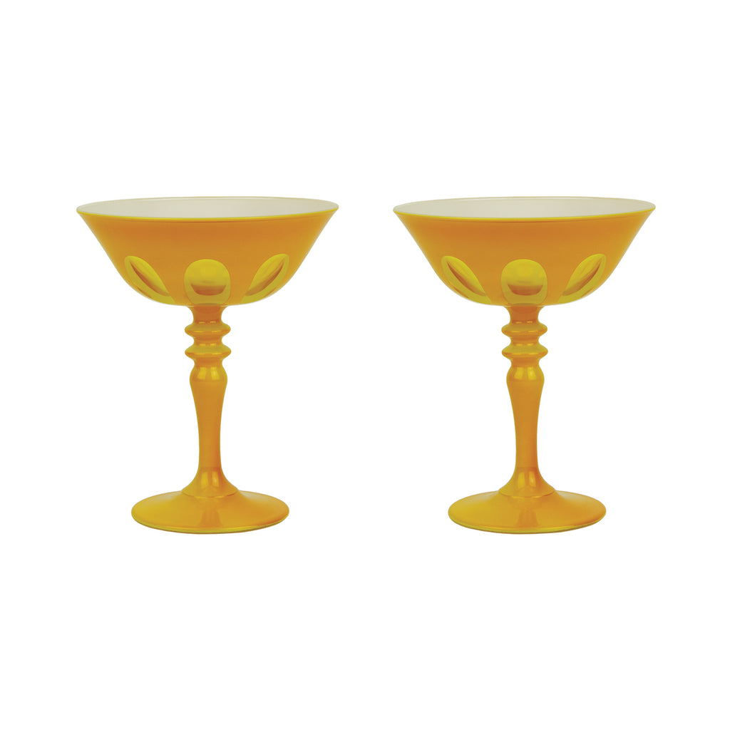Rialto Glass Coupe Glass, Saffron