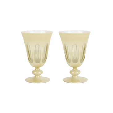 Rialto Glass Tulip Glass, Creme