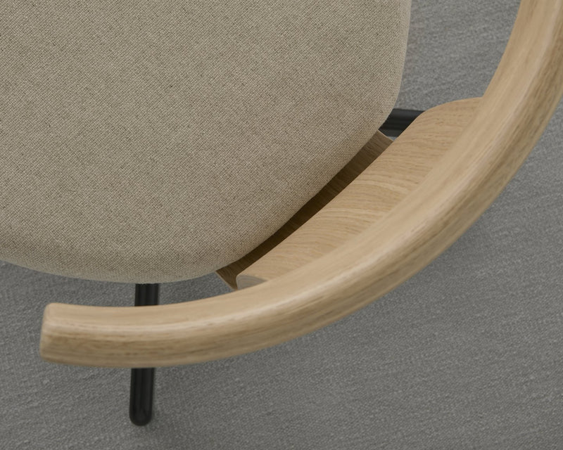Jiro Swivel Chair with Upholstered Seat