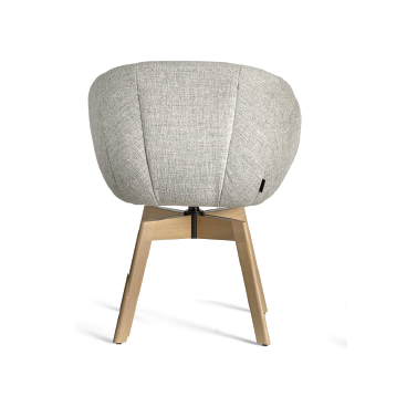 Luna Wooden Swivel Base Chair