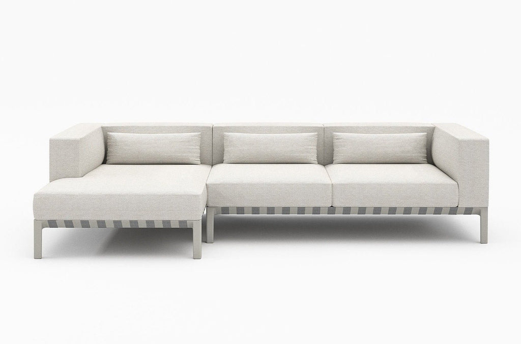 Outdoor Able 2 Seater Sofa with Left Arm Chaise