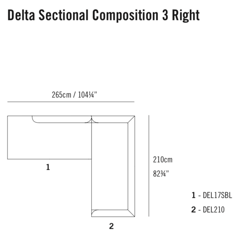 Delta Sectional Composition 3 TR