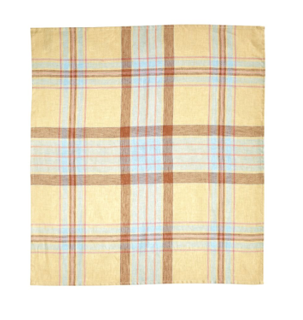 West Port Tea Towel-Straw Check