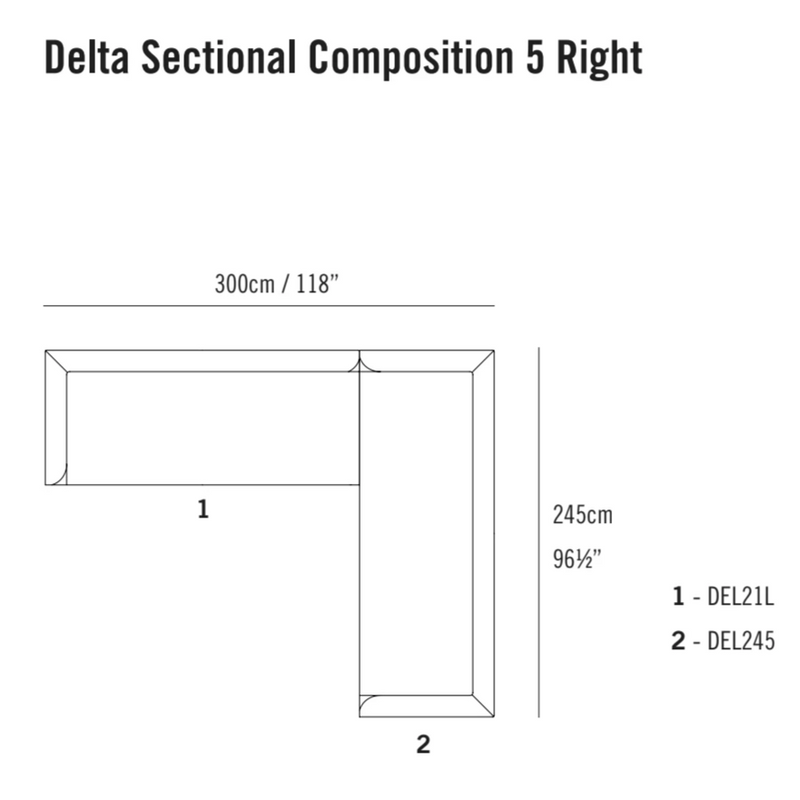Delta Sectional Composition 5 TR