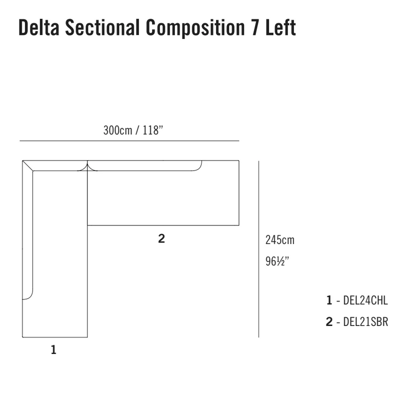 Delta Sectional Composition 7 TR