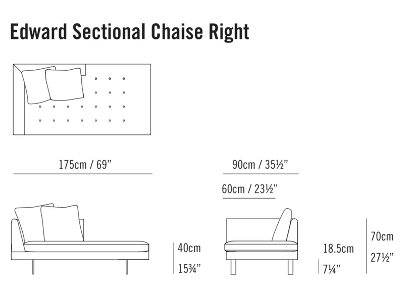 Edward Sectional Chaise Short