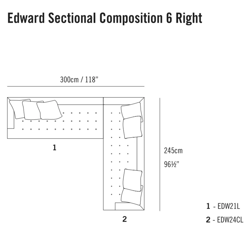 Edward Sectional Composition 6 TR