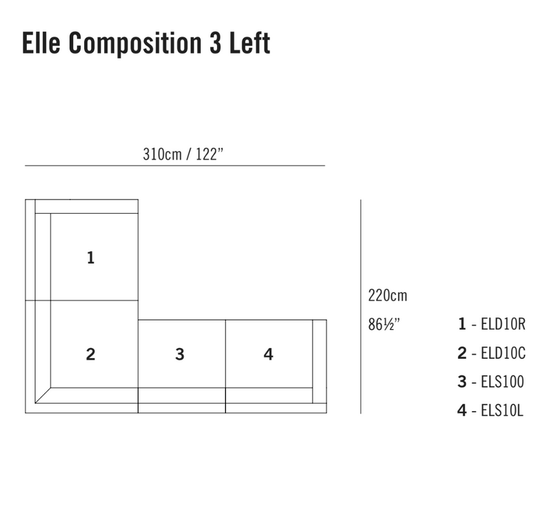 Elle Sofa Composition 3