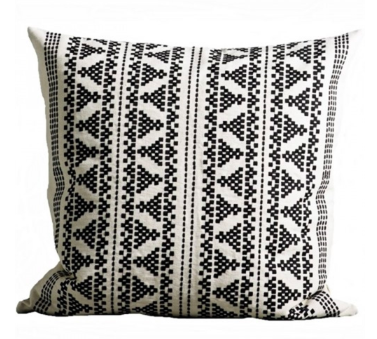 Black Embroidery Pillow