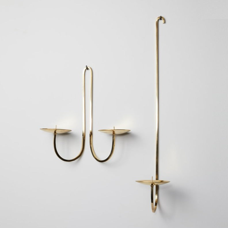 Wall Candle Holders, Brass