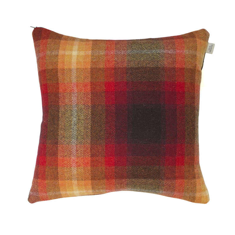 Ysbrd Flame Plaid Cushion