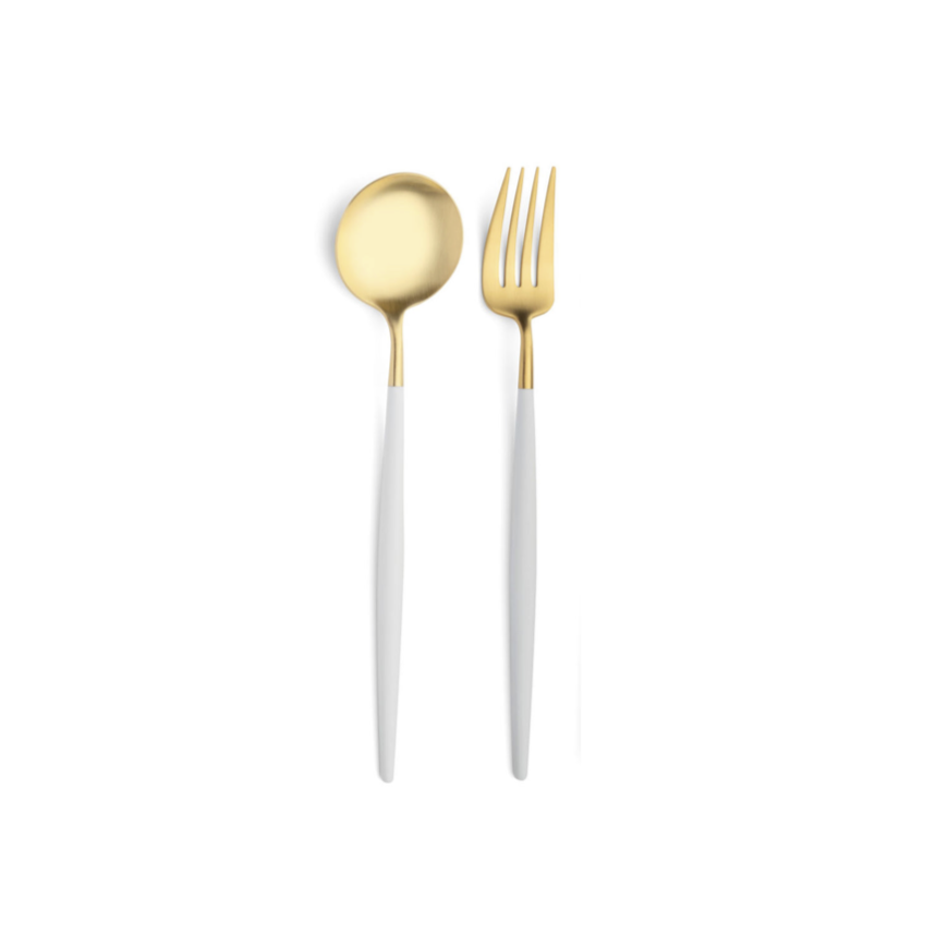 Gold & White Serving Set