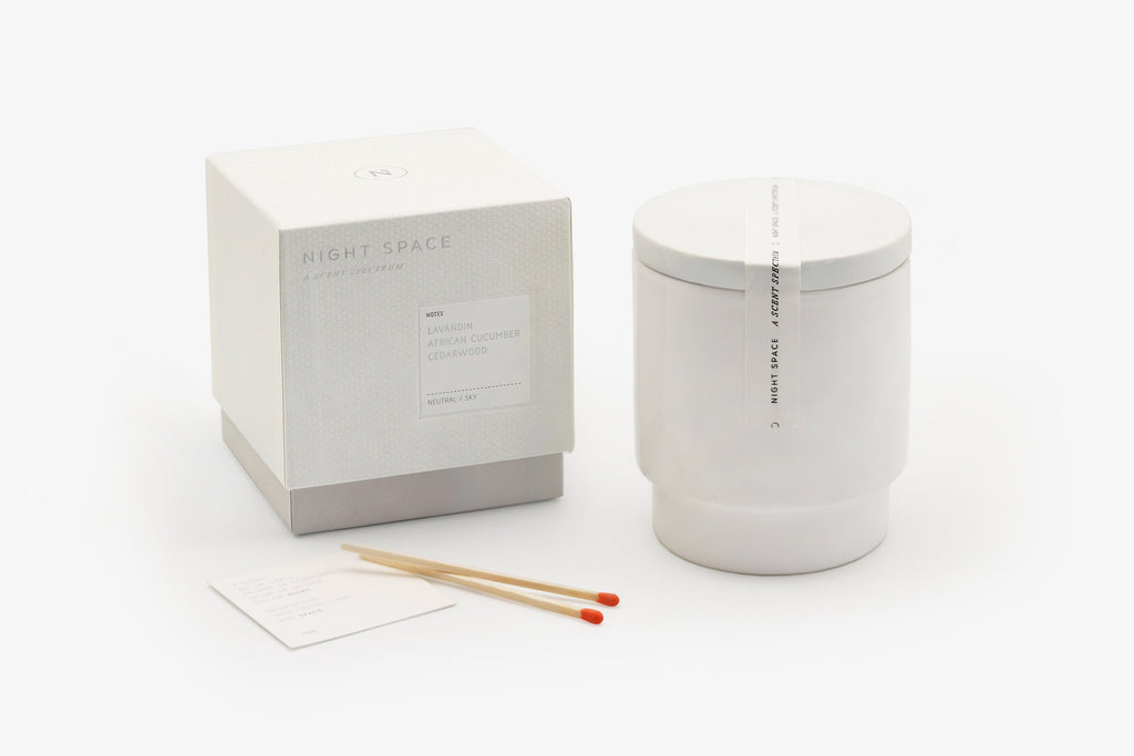 Night Space Candle, Pure White