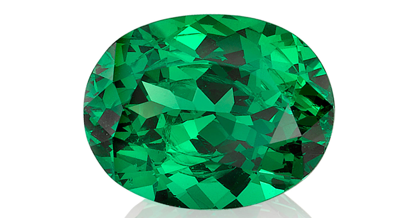 cut gemstone green tsavorite cushion garnet sparkling
