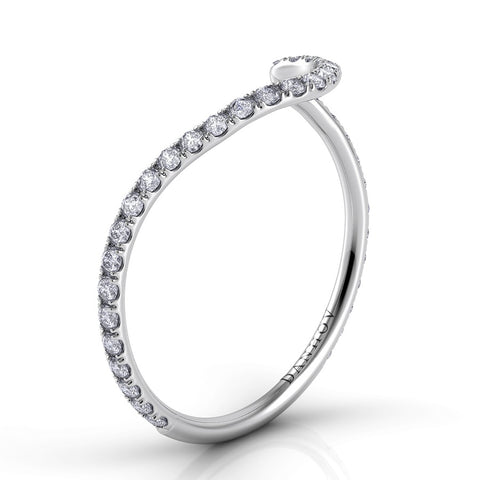 Abbraccio Curved Diamond Band AB100-H