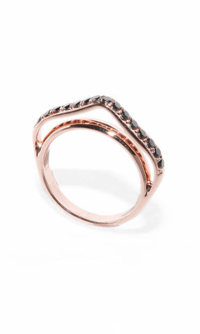Campbell Ring Rose Gold Diamond