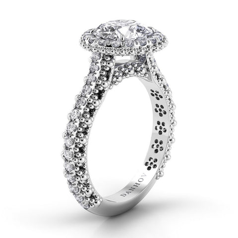 Flora Engagement Ring Setting FE102, Floral Ring, Engagement Ring, Diamond Danhov's Ring