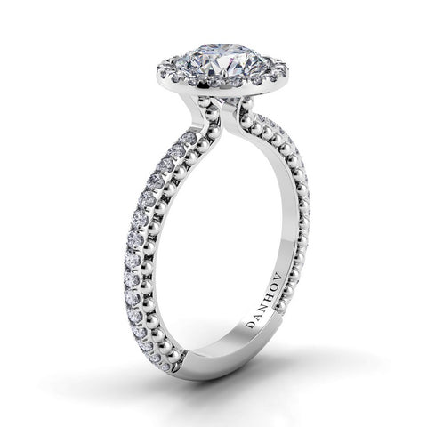 Flora Engagement Ring Setting FE110, Halo Ring, Engagement Ring, Diamond Ring