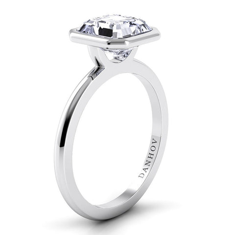 Per Lei Engagement Ring Setting LE100-AS, Asscher Diamond Ring, Danhov's Ring