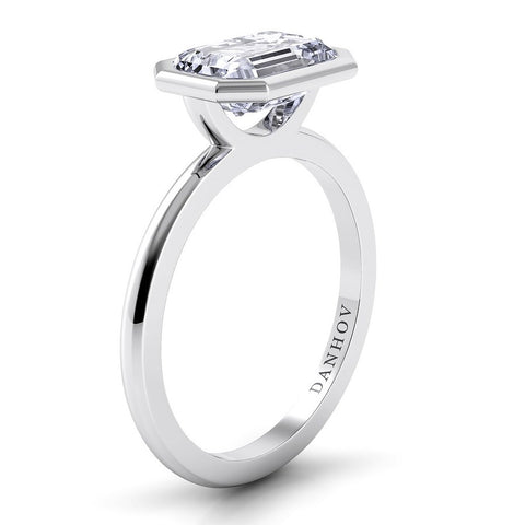 Per Lei Engagement Ring Setting LE100-EMEW, Engagement Ring, Danhov's Ring, Diamond