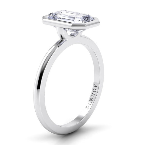 Per Lei Engagement Ring Setting LE100-EM, Emerald Cut Diamond, Danhov's Ring, Engagement Ring