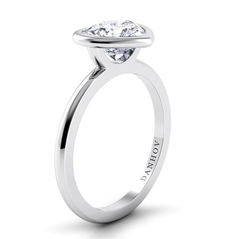 Per Lei Engagement Ring Setting LE100-HS, Engagement Ring, Diamond Ring, Danhov's Ring, Romantic Ring