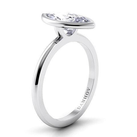 Per Lei Engagement Ring Setting LE100-MQ, Fashion Diamond Ring, White Gold Ring