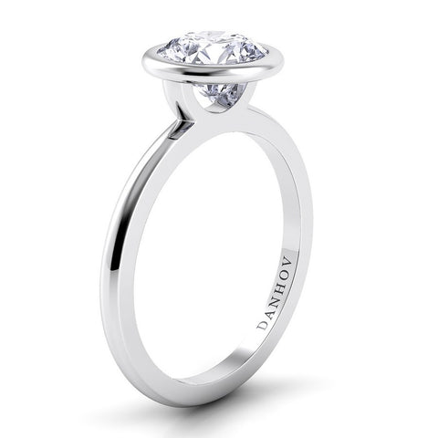 Per Lei Engagement Ring Setting LE100, Round Diamond, Ring Diamond, Danhov's Ring