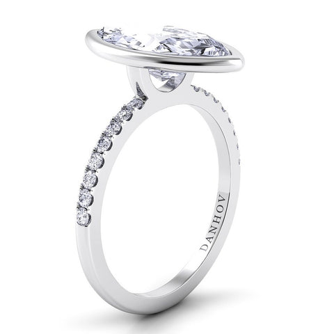 Per Lei Engagement Ring Setting LE103-MQ, Marquis Cut Diamond, Engagement Ring, Danhov's Ring