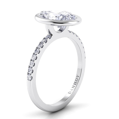 Per Lei Engagement Ring Setting LE103-OV, Oval Diamond, Engagement Ring, Fashion Ring