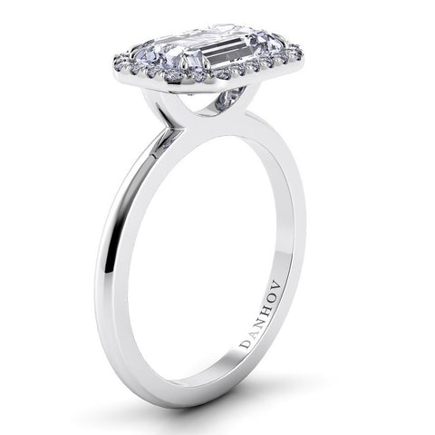 Per Lei Engagement Ring Setting LE104-EMEW, Halo Ring, Danhov's Ring, Romantic