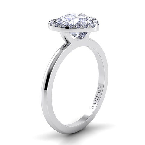 Per Lei Engagement Ring Setting LE104-HS, Heart Ring, Romantic Ring, Danhov's Ring