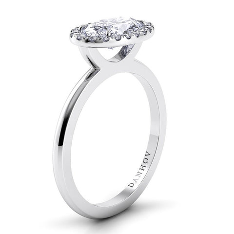 Per Lei Engagement Ring Setting LE104-OVEW, Diamond Ring, Halo Ring, Danhov's Ring