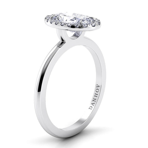 Per Lei Engagement Ring Setting LE104-OV, Oval Diamond, Diamond Ring, Danhov
