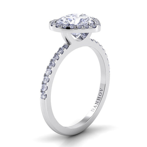 Per Lei Engagement Ring Setting LE105-HS, Heart Ring, Romantic Danhov's Ring