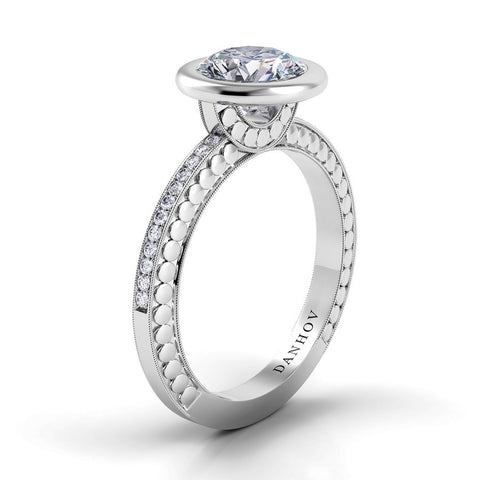 Tubetto Engagement Ring Setting TE128, Classic Engagement Ring, Danhov's Ring