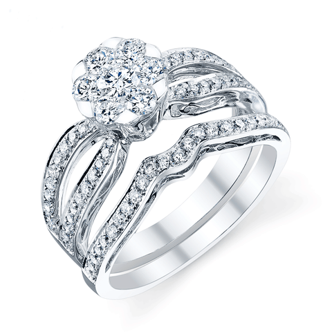 Hemera Bridal Set, Engagement Ring and Wedding Band