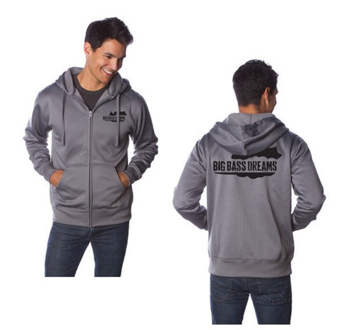Big Bass Dreams Logo Zip Up Tech Hoodie