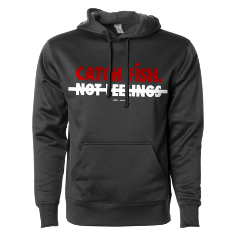 Catch Fish Not Feelings Graphic Hoodie (Slim Fit)