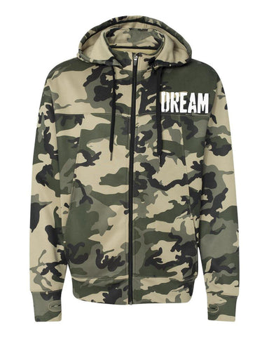 Dream Camo Logo Zip Up Tech Hoodie