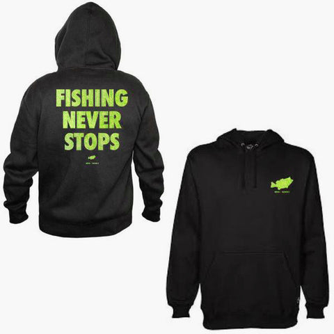 Fishing Never Stops Hoodie (Slim Fit)