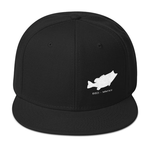 Bass Fish Side Snapback Hat