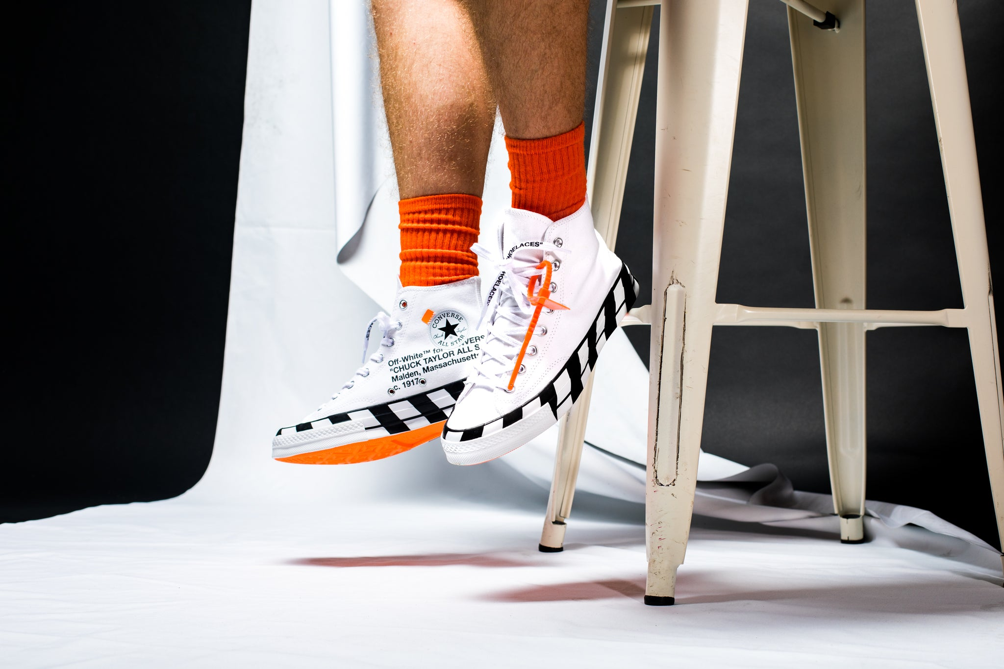 converse off white style