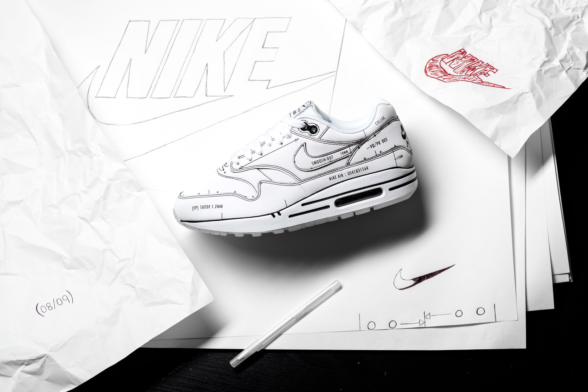 Nike Air Max 1 Sketch To Shelf 'Schematic' Sneaker Politics
