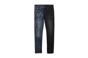 Purple Half & Half Jeans - Blue/Black