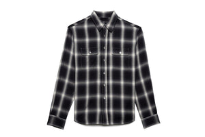 Purple Brand Reverse Flannel Shirt - Black/Grey
