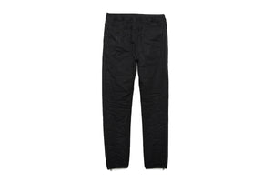 Purple Brand Coated Black Wash Joggers - Black
