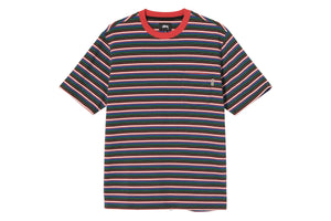 Stussy Mini Stripe Crew - Red