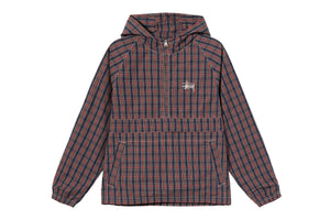 Stussy Brushed Cotton Anorak - Plaid